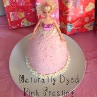Naturally Dyed Pink Frosting